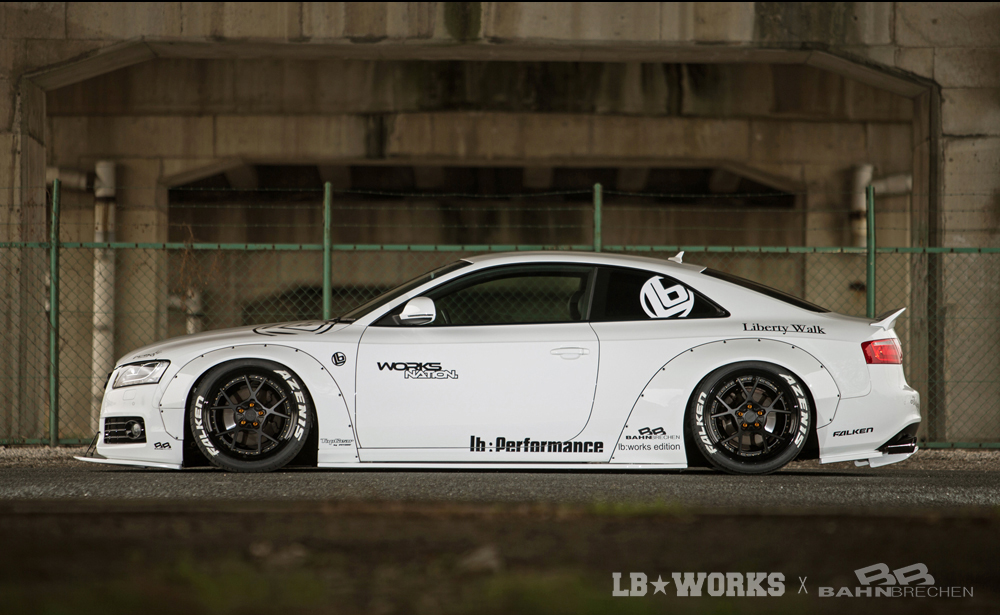 Liberty Walk custom car Audi A5 / S5 with body kit ...